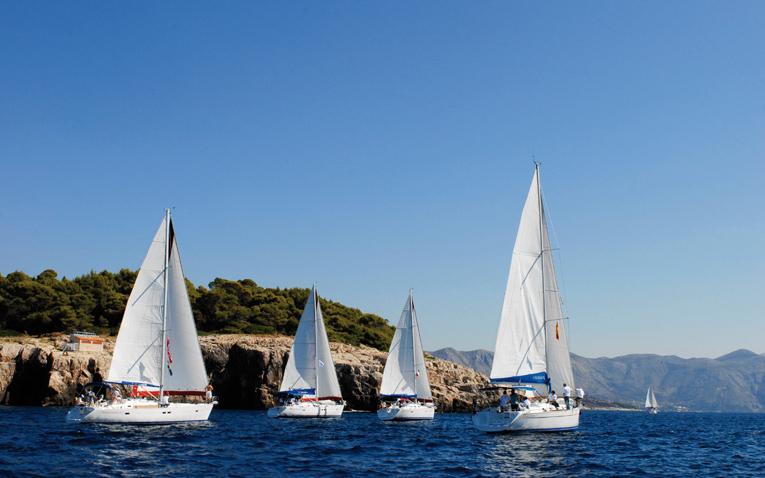 Flottille Segeln Flottillensegeln Yachtcharter Mittelmeer Kroatien Griechenland Türkei Karibik Tortola