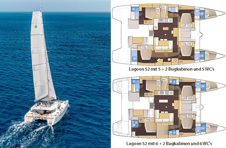 Lagoon 52 Layouts