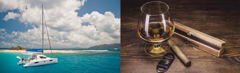 Flottille Sunsail Katamaran British Virgin Islands BVI Rum Tasting Segeln Segelurlaub Yachturlaub Inseln Karibik