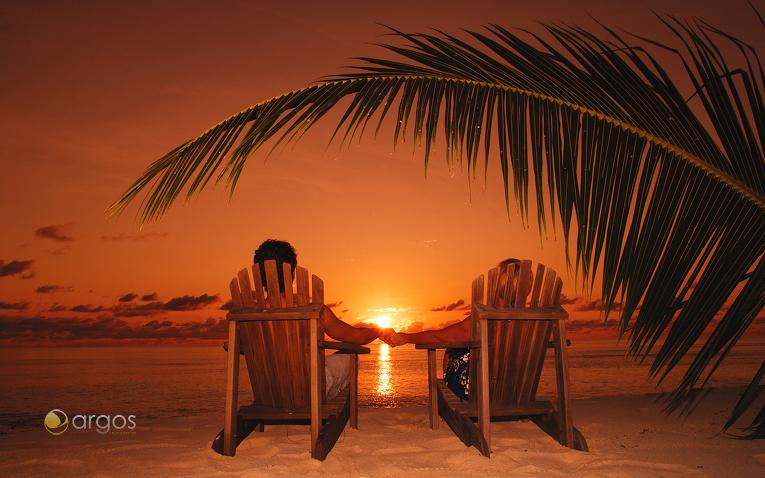Sonnenuntergang Denis Island
