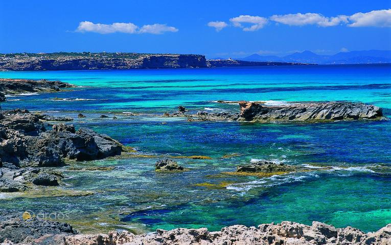 Küste von San Ferrán de Ses Roques - Formentera
