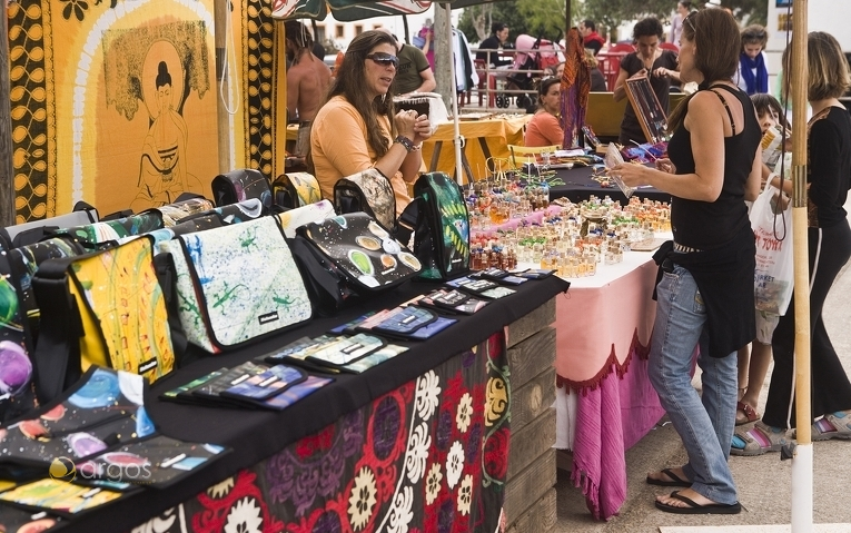 Straßenmarkt auf der Insel Formentera
