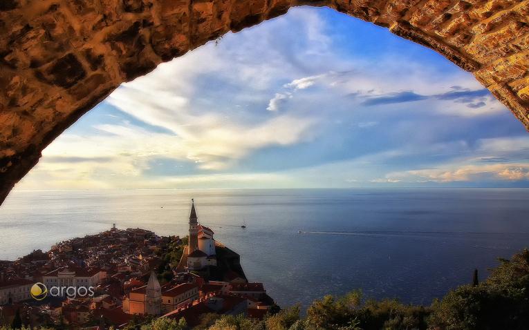 Piran - Aussicht von der Stadtmauer
