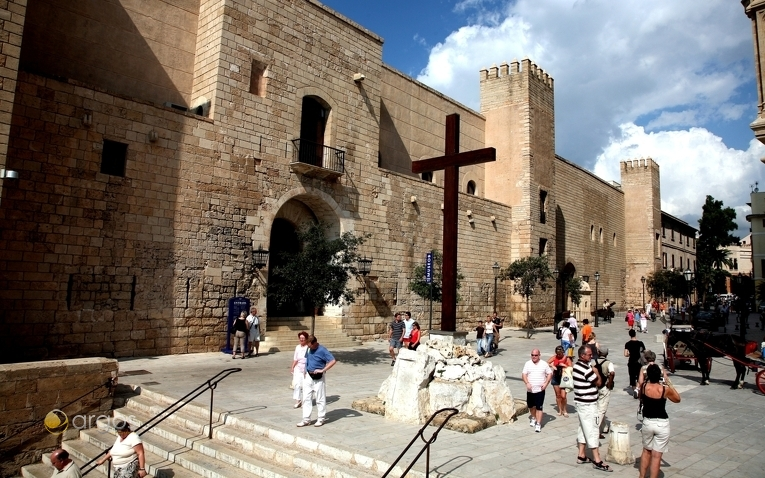 Königspalast Palacio de la Almudaina in Palma de Mallorca