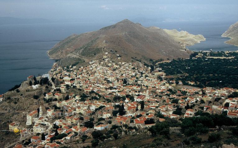 Blick auf die Insel Symi