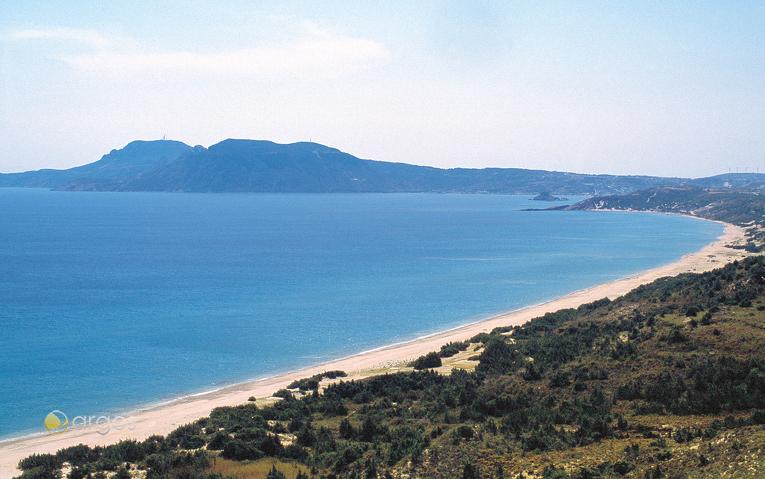 Kilometerlanger Strand auf der Insel Kos