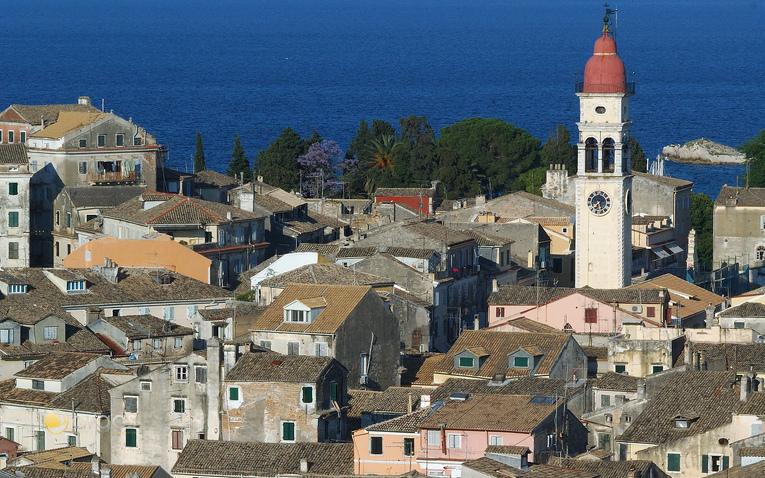 Blick über die Altstadt von Korfu