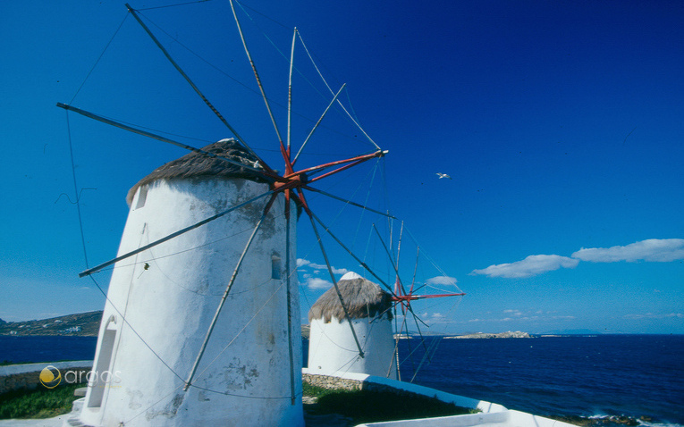 Windmühlen auf der Insel Mykonos