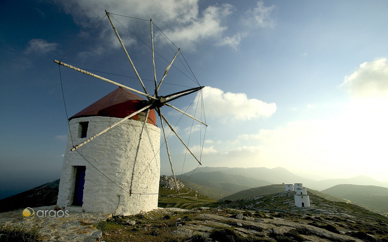 Windmühle auf der Insel Amorgos
