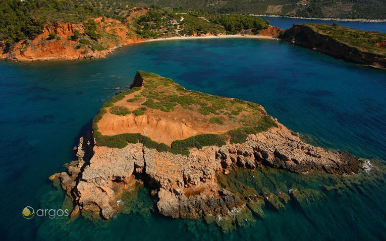 Blick auf die Küste von Alonissos
