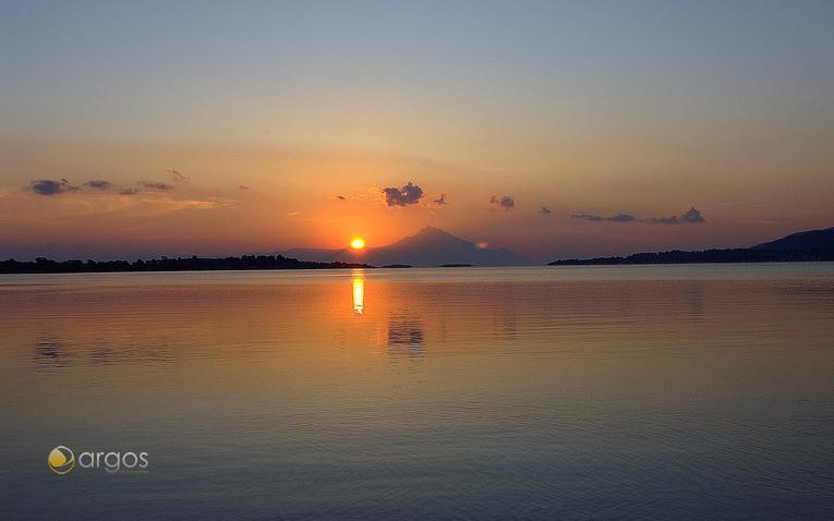 Sonnenuntergang in Athos