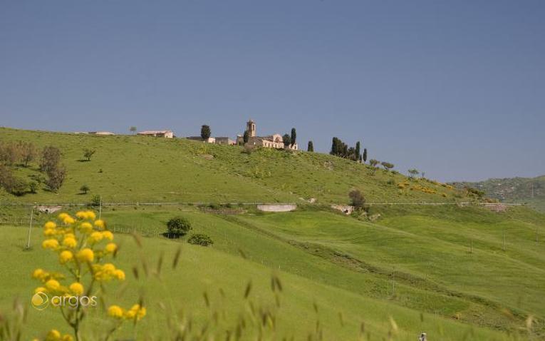 Blick auf Borgo Giuliano in der Region San Teodoro