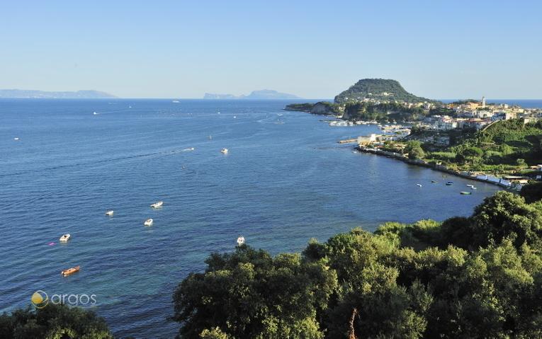 Blick auf die Ortschaft Bacoli