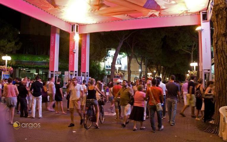 Nachtleben von Riccione in der Provinz Rimini