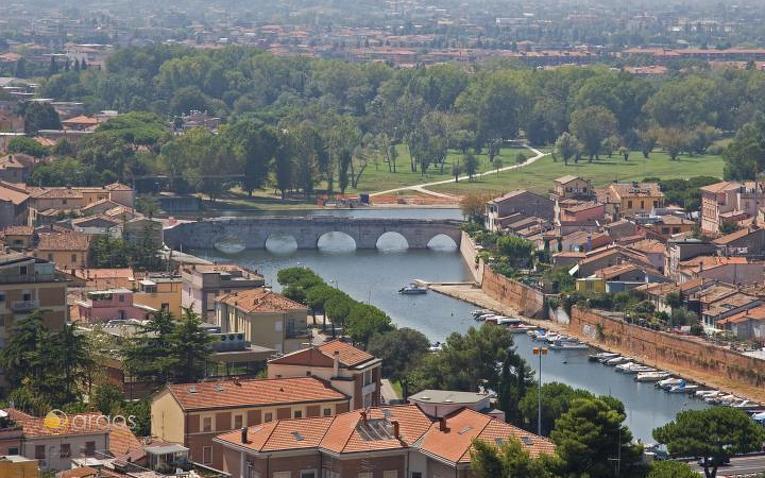 Panorama der Stadt Rimini