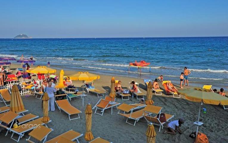 Strand von Alassio - Riviera di Ponente