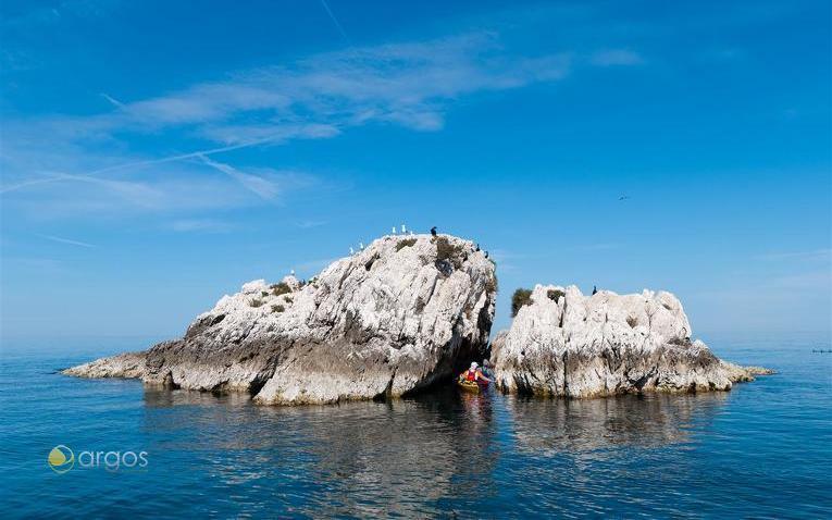 Felsformation vor der Küste von Novigrad