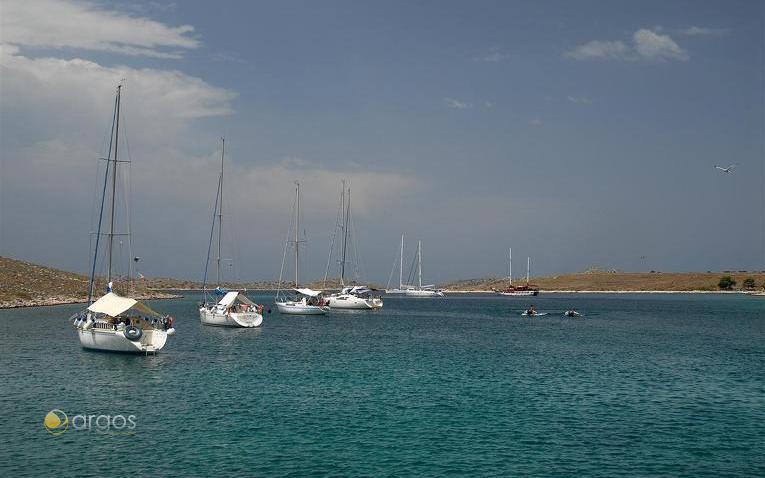 Yachturlauber im Nationalpark Kornaten