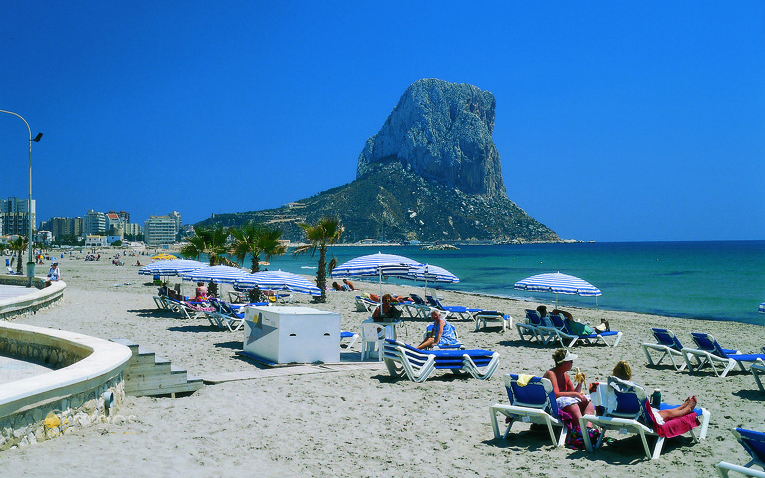 Strand Arenal in Calpe