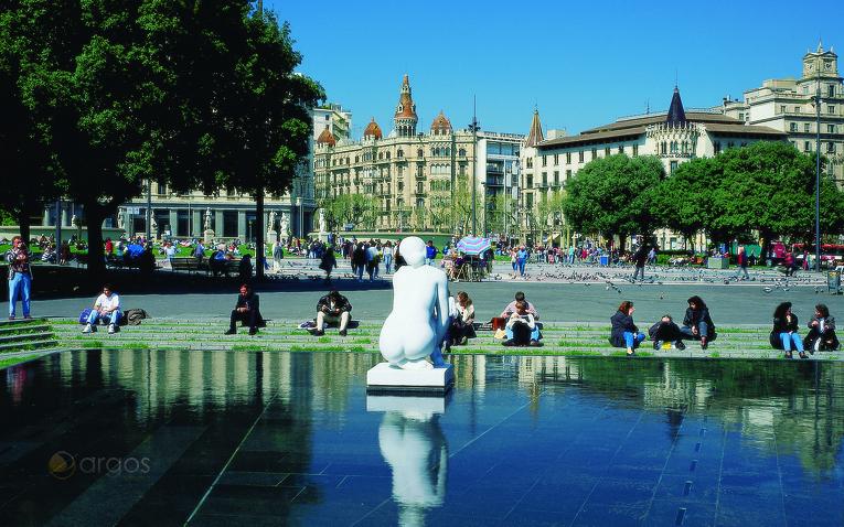 Plaza de Cataluña in Barcelona