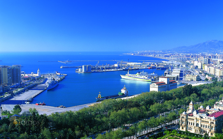 Blick auf Málaga