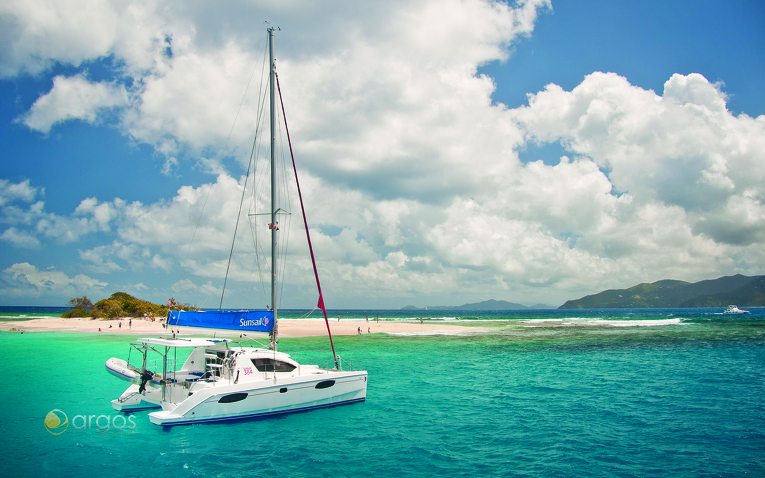 Katamaran auf den British Virgin Islands