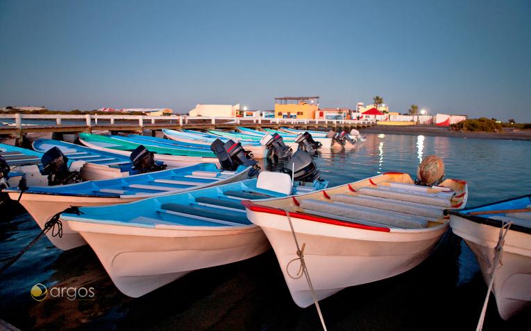 Boote im Hafen in Baja California Sur