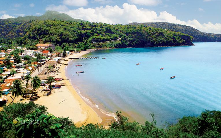 Fischerdorf Anse la Raye im Westen von Saint Lucia