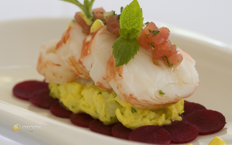 Frisches Lobster-Gericht