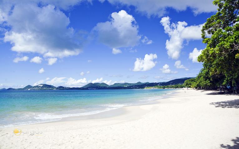Traumstrand auf der Insel Saint Lucia