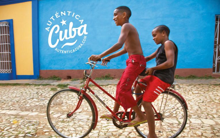 Fahrradfahrer in Trinidad