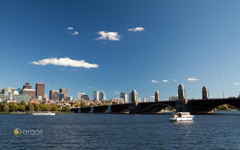 Skyline von Boston und Charles River