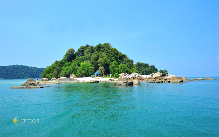Paradiesische Insel Pulau Giam