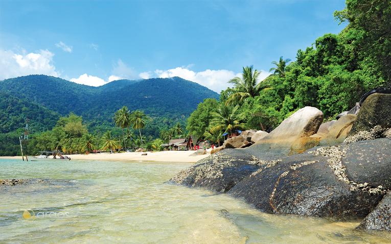 Strand auf der Insel Tioman