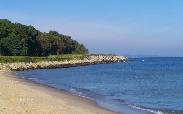 Strand auf der Halbinsel Westerplatte