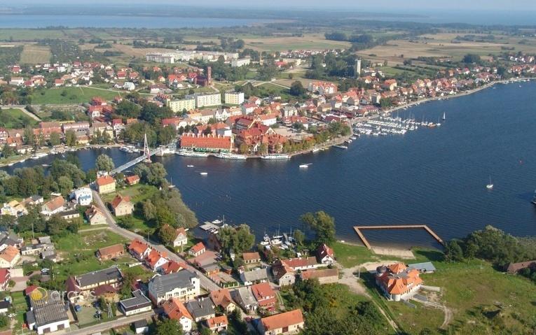 Aussicht auf die Stadt Nikolaiken (Mikolajki)