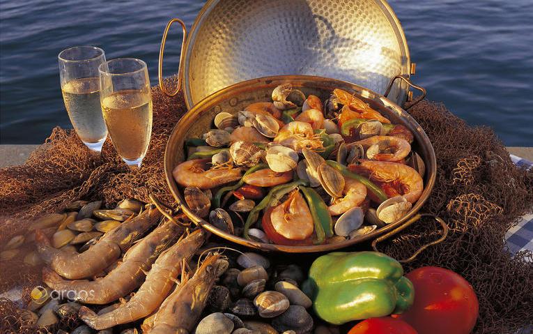 Meeresfrüchte in einer