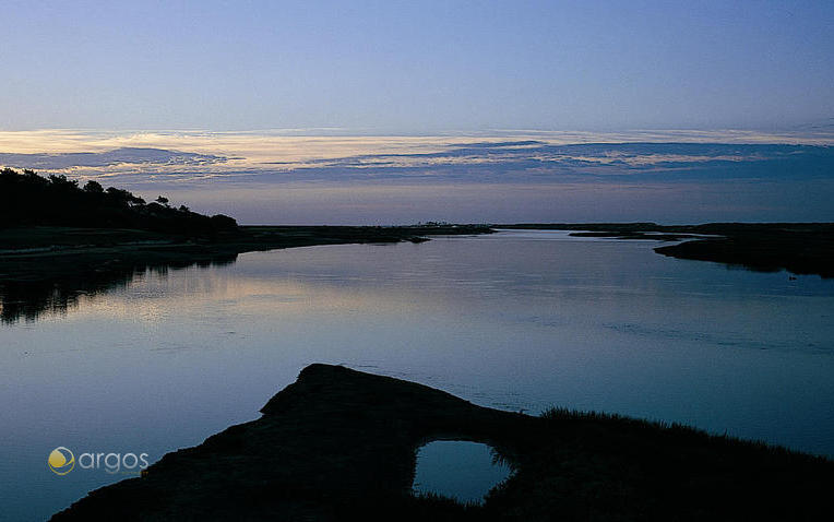 Sonnenaufgang im Naturschutzgebiet Ria Formosa