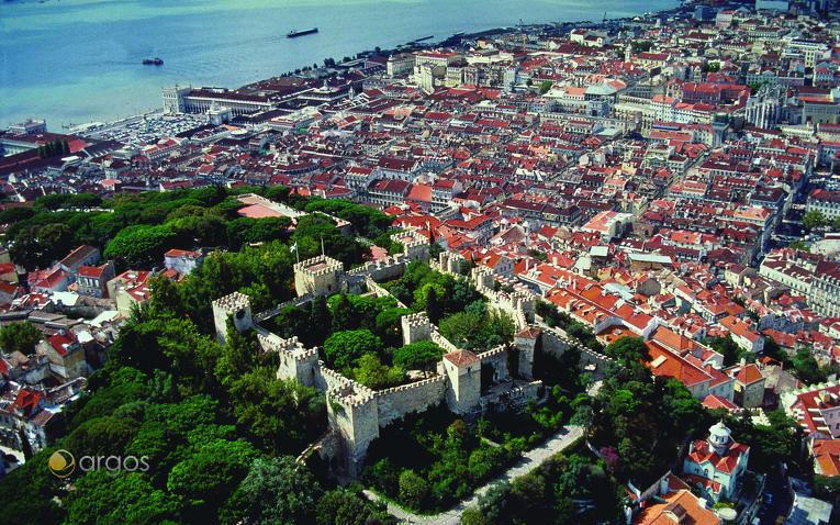 Luftaufnahme von Lissabon