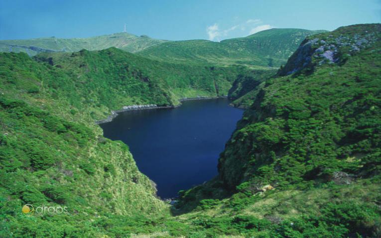 Landschaft der Insel Flores