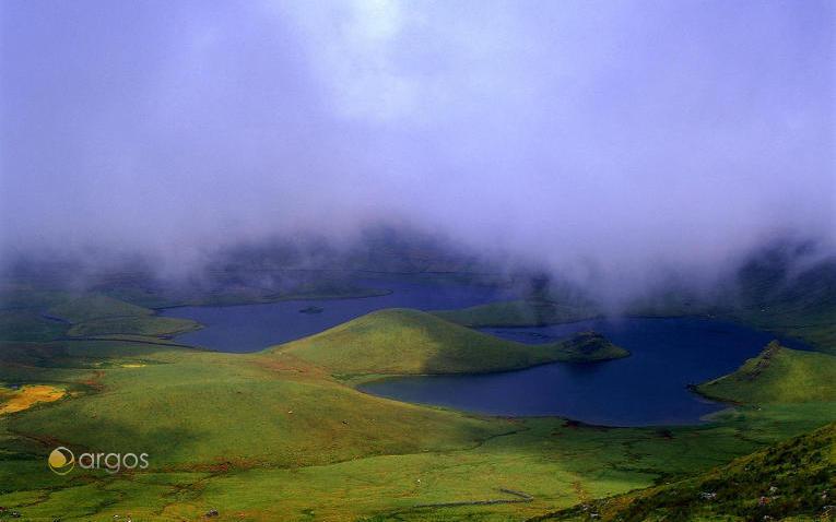 Nebellandschaft auf der Insel Corvo