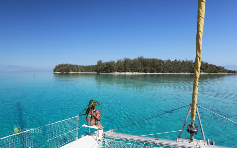 Katamaran segeln in der Südsee