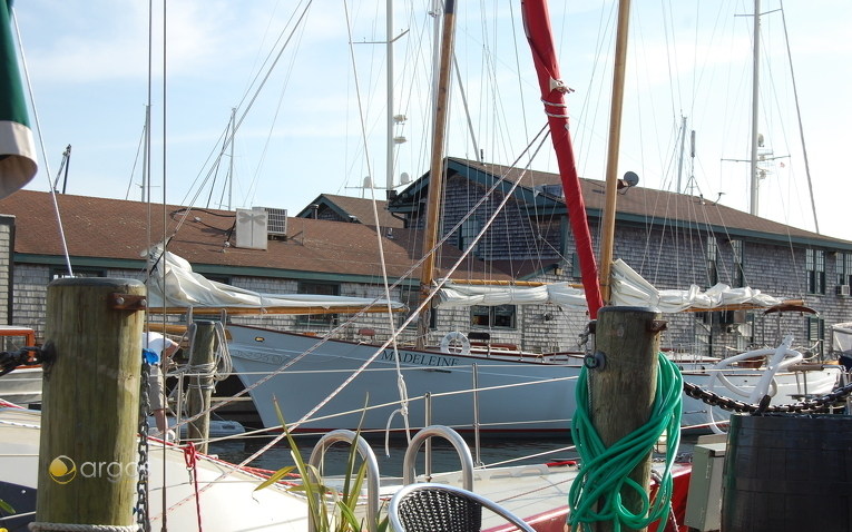 Ausblick vom Portside Bar - Newport