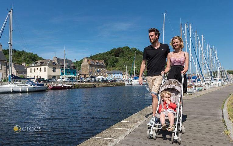 Spaziergang im Hafen Le Legue in Saint Brieuc