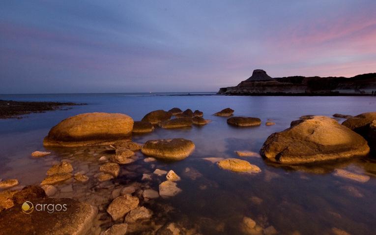Bucht Qbajjar in der Nähe der Ortschaft Marsalforn auf der Insel Gozo