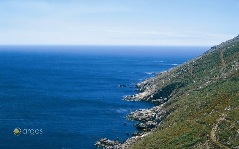 Blick auf den Atlantik vom Kap Finisterre