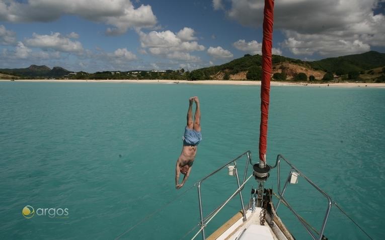 Erfrischung ist nötig bei den heißen Temperaturen in der Karibik