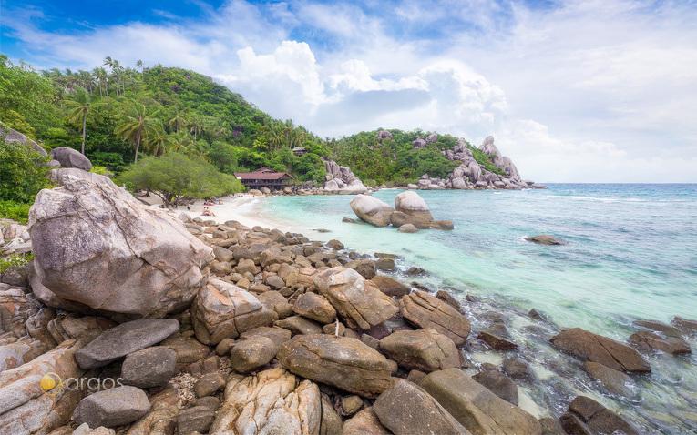 Steine am Strand von Ko Tao
