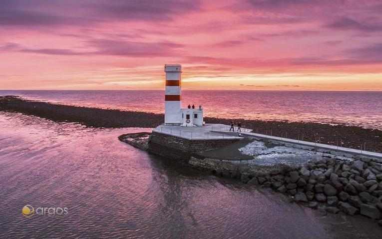Leuchtturm Reskjanes Halbinsel - Island
