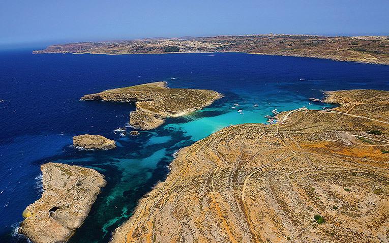 Ankerbucht Blue Lagoon auf Comino